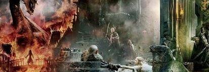 """Mega-Mega-Mega-Mega p�ster de """"El Hobbit: La Batalla de los Cinco Ej�rcitos"""""""
