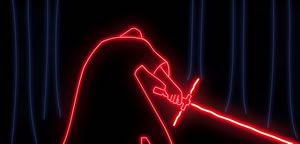 """El trailer de """"Star Wars: El Despertar de la Fuerza"""" realizado con luces de ne�n"""