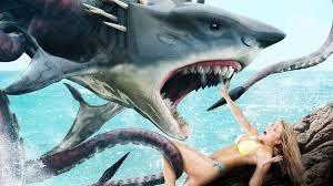 "P�ster oficial de ""Sharktopus vs. Whalewolf"""