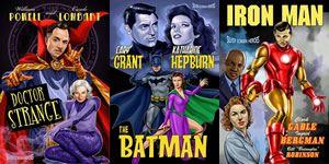 Posters de pel�culas de superh�roes protagonizas por actores cl�sicos