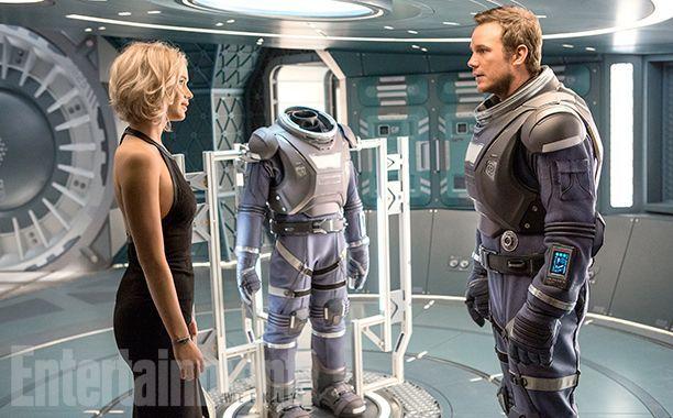 """""""Pasajeros"""": Primeras imágenes del título con Jennifer Lawrence y Chris Pratt"""