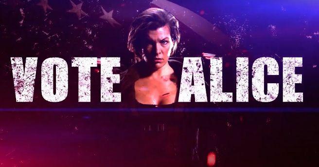 """Vota por Alice en el nuevo spot de """"Resident Evil: El Capítulo Final"""""""