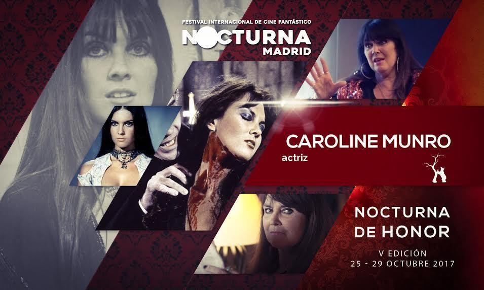 Caroline Munro será homenajeada en la próxima edición de Nocturna Madrid