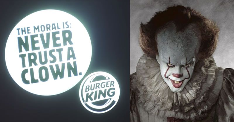 """IT"": Burger King usa la película en Alemania para meterse con McDonalds"