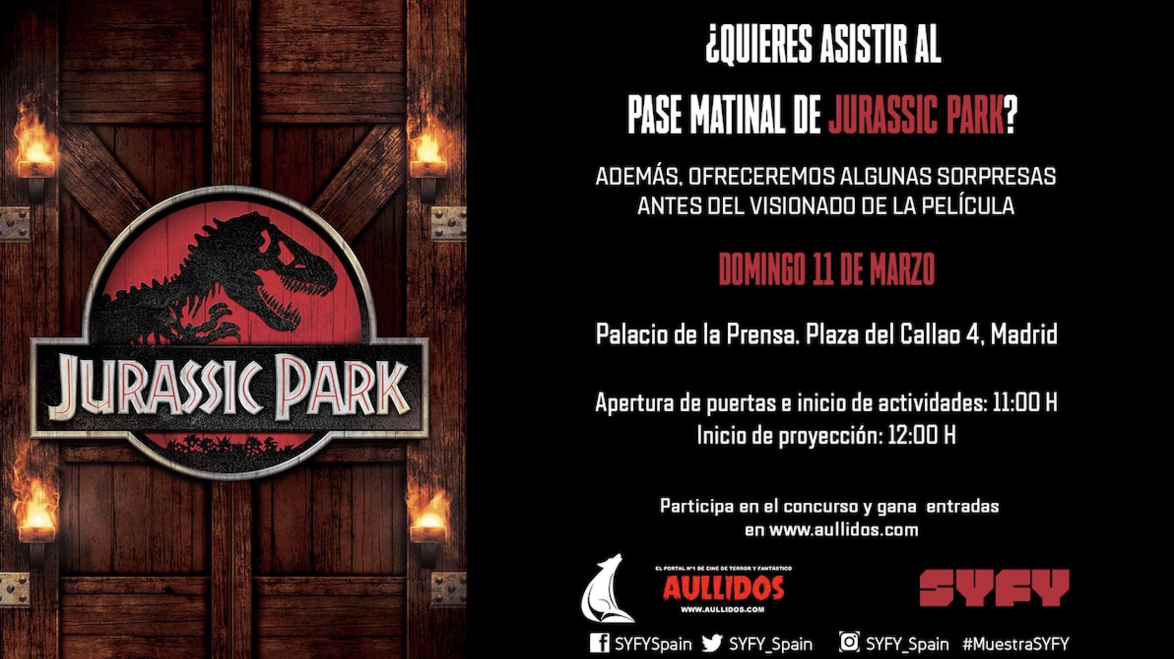 """Te invitamos a ver """"Jurassic Park"""" en familia en la Muestra Syfy"""