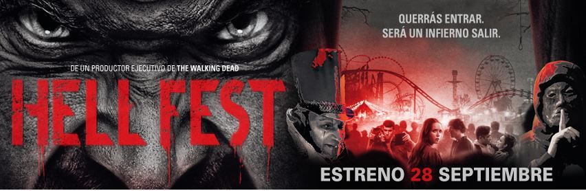 """""""Hell Fest"""": Póster español del slasher que llegará a los cines el 28 de septiembre"""
