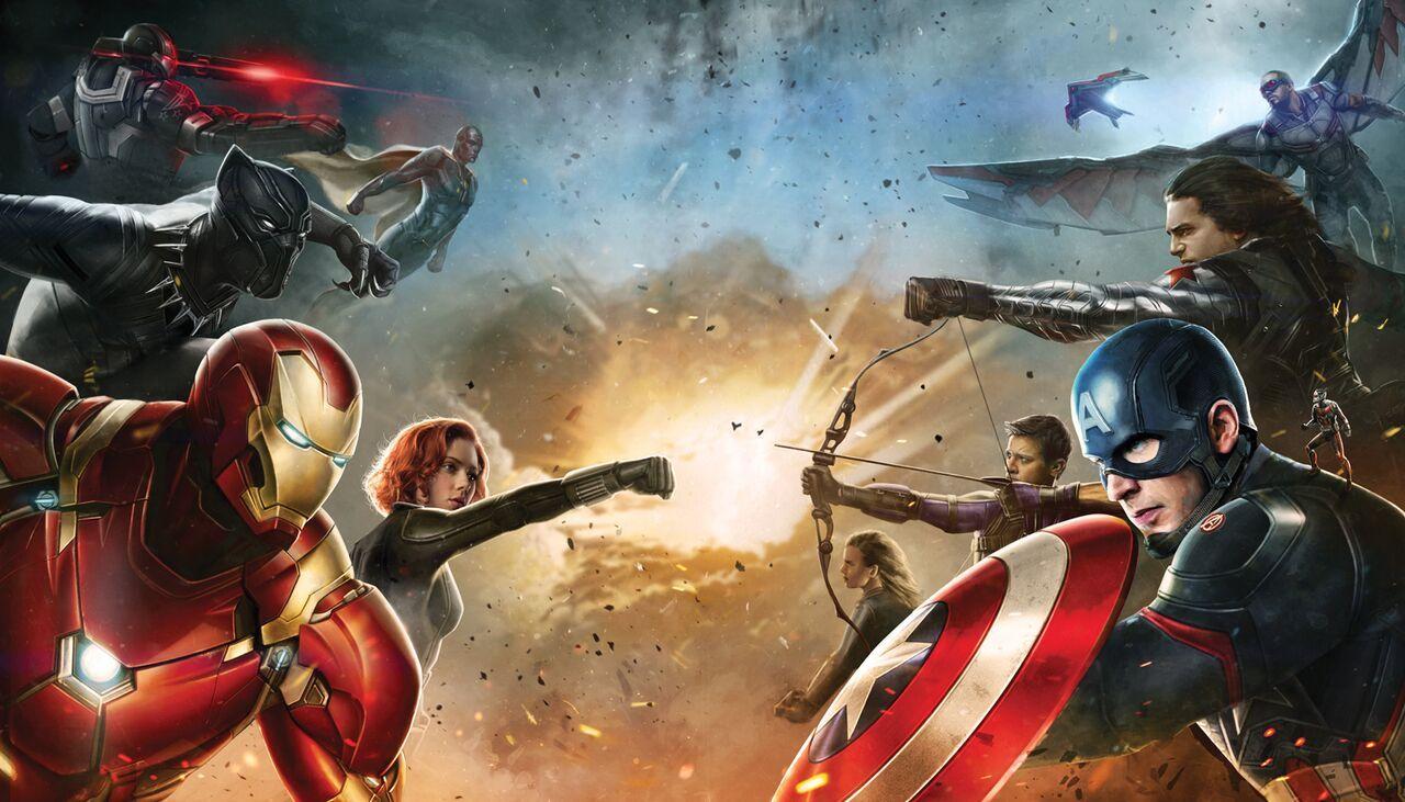 Arte Promocional Capitan America Civil War