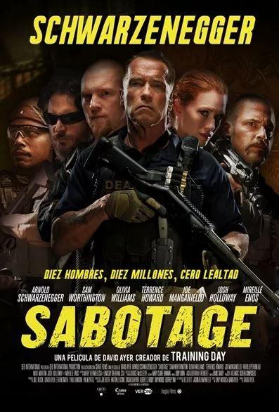 Póster Español Sabotage