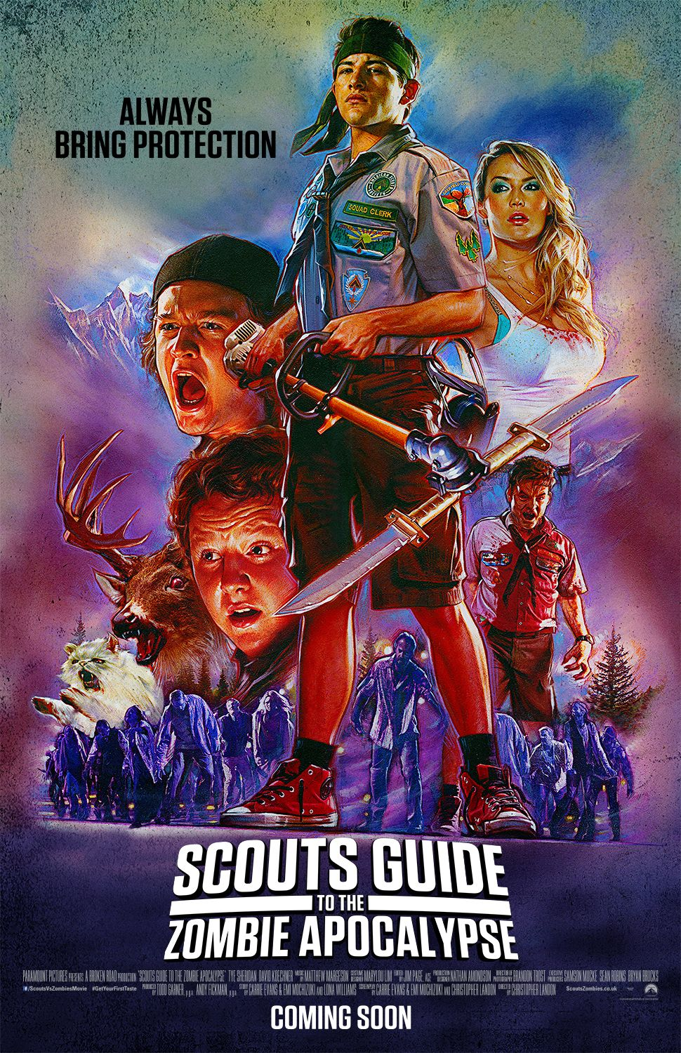 Nuevo Poster Scouts Guide To The Zombie Apocalypse