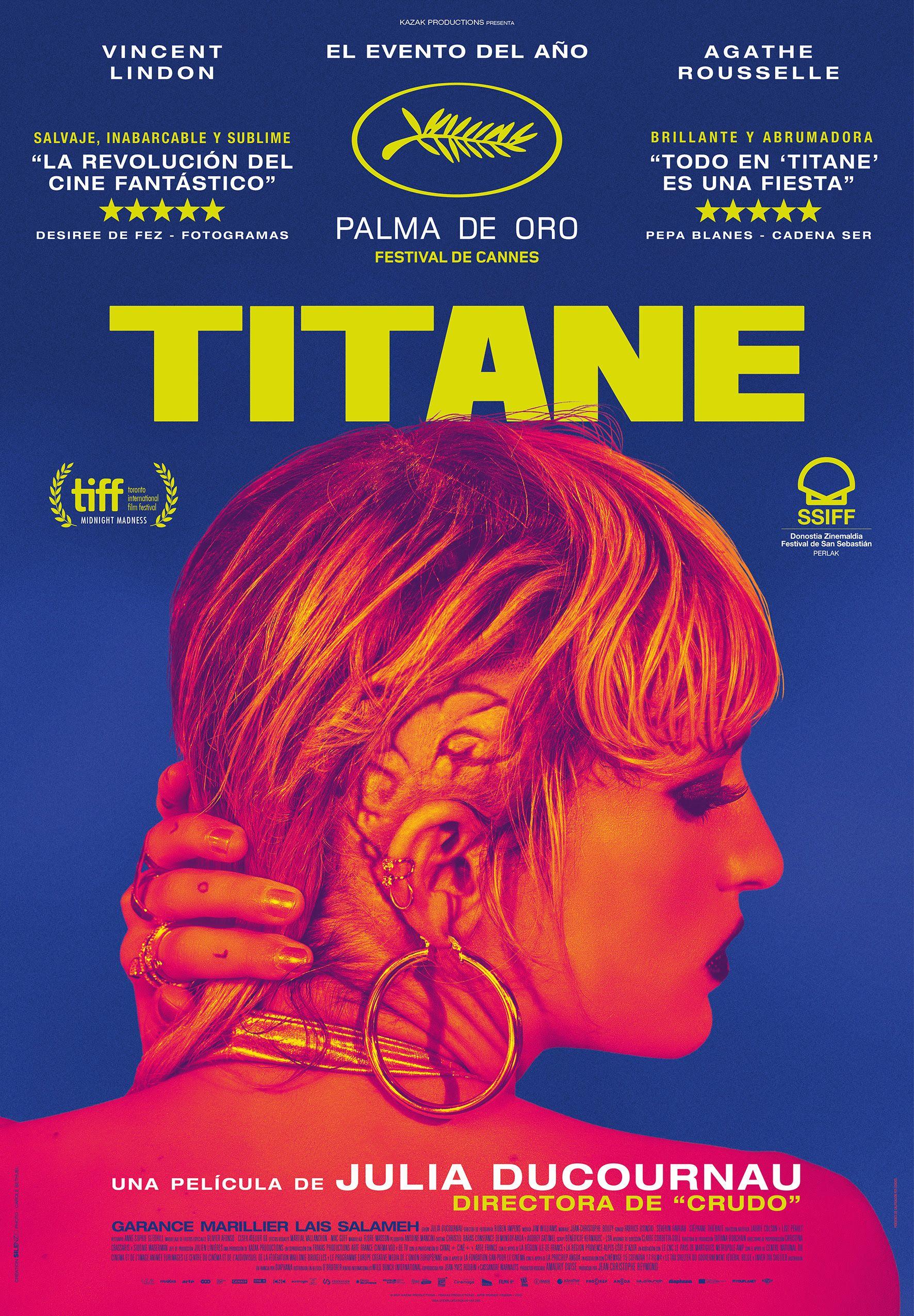 Póster español de 'TITANE' que se estrenará en España el 8 de octubre -  Aullidos.com