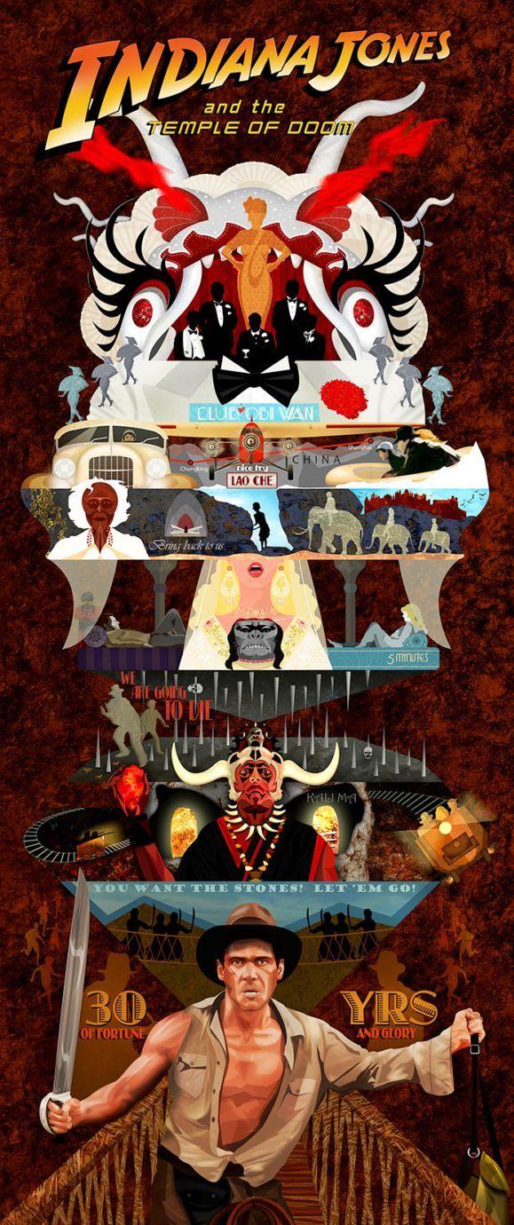 Poster Indiana Jones y el Templo Maldito