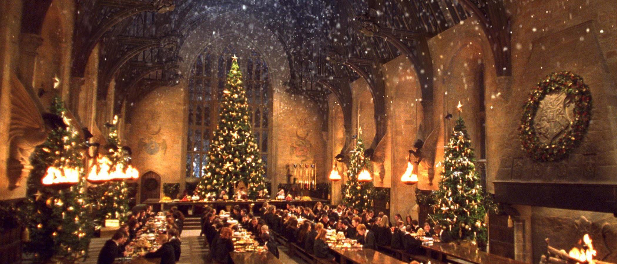 Cena de Navidad en Hogwarts