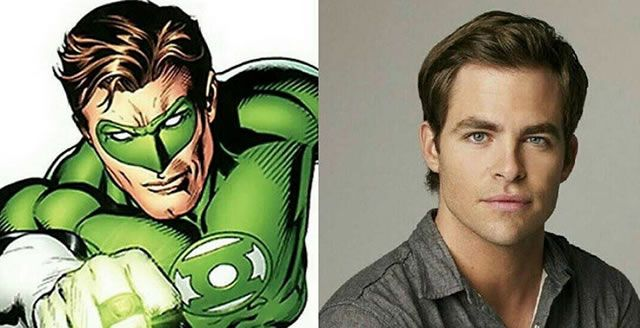 Green Lantern Chris Pine