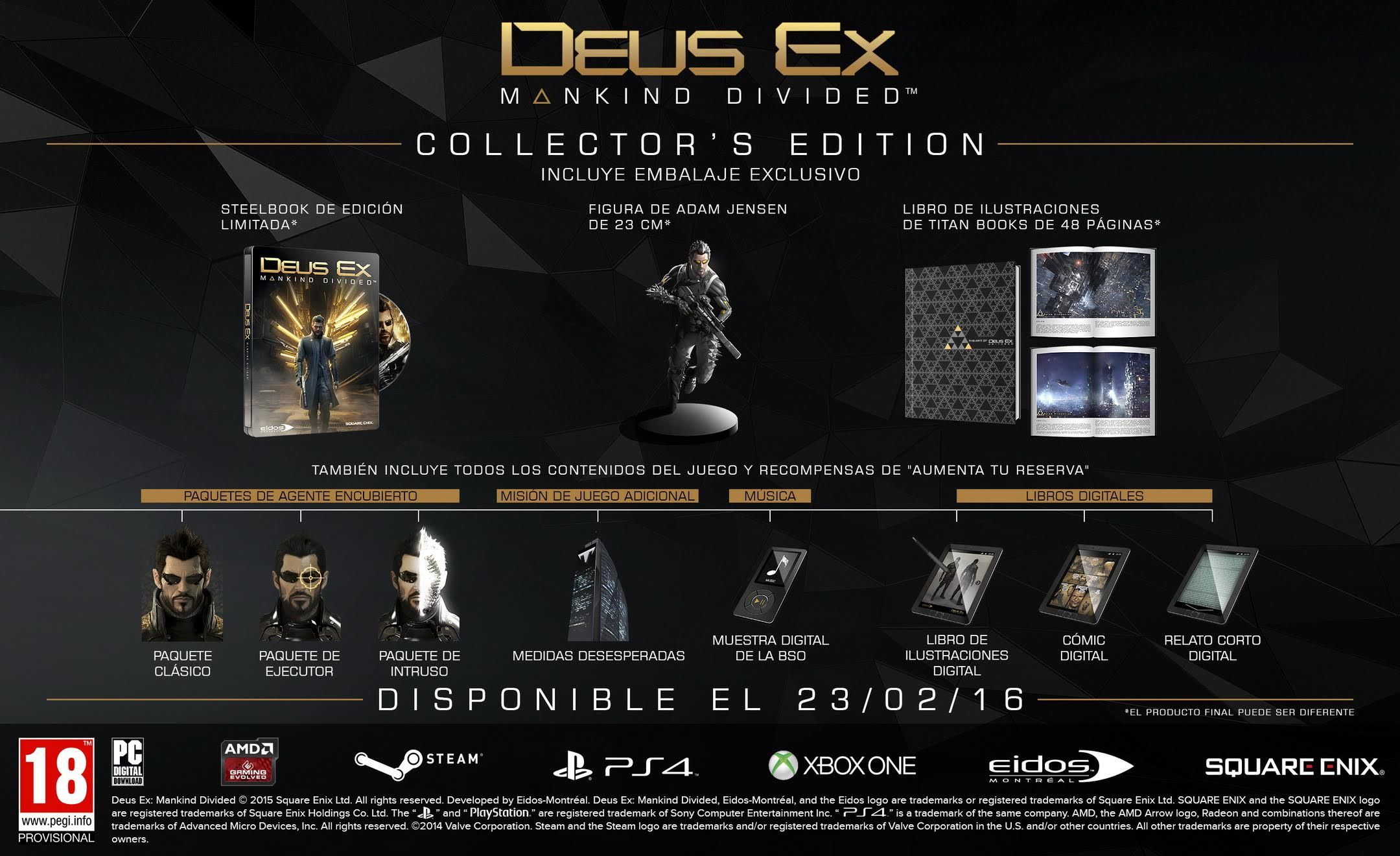 Edicion Coleccionista Deus Ex Human Mankind