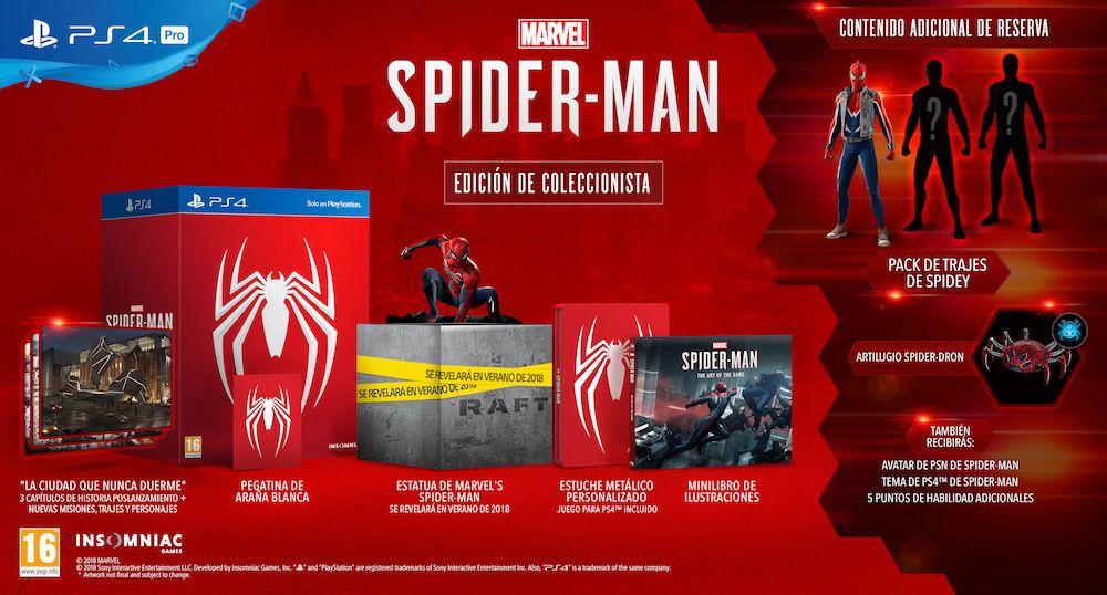 Spiderman PS4 Coleccionista