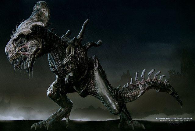 T-Rex Xenomorfo